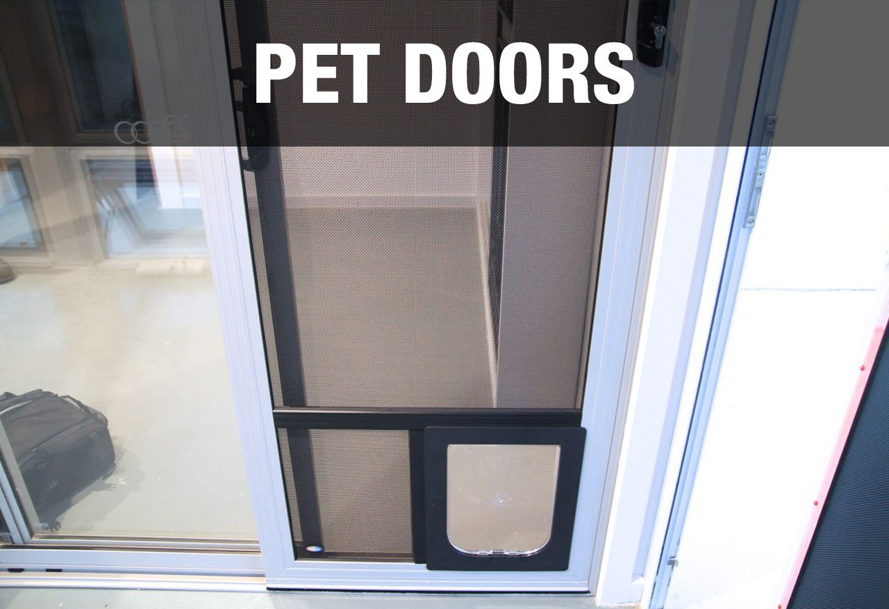 Pet security doors for dogs and cats