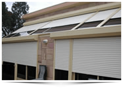 Roller shutters in many colours and sizes to keep your home safe
